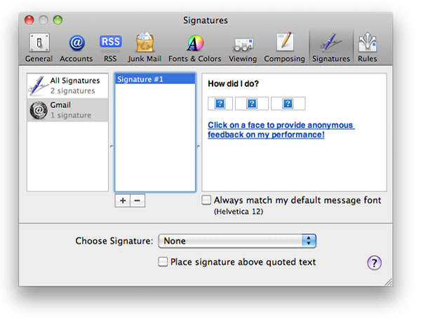You may see blank images when setting up signature