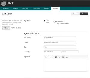freshdesk - agent signature