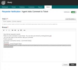 freshdesk - notification